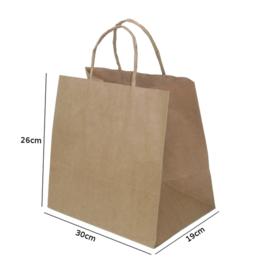 sacola de papel kraft para delivery