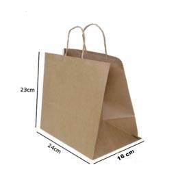 sacola kraft multiuso-serve para delivery