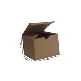 caixa kraft em formato de cubo