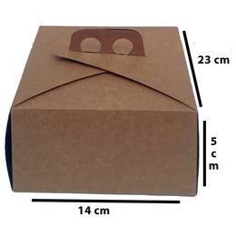 caixa kraft para bolo