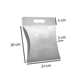 caixa almofada cartão duples branco