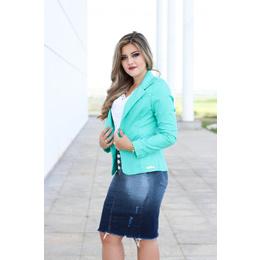 Saia Jeans com pigmento - Ref D9147