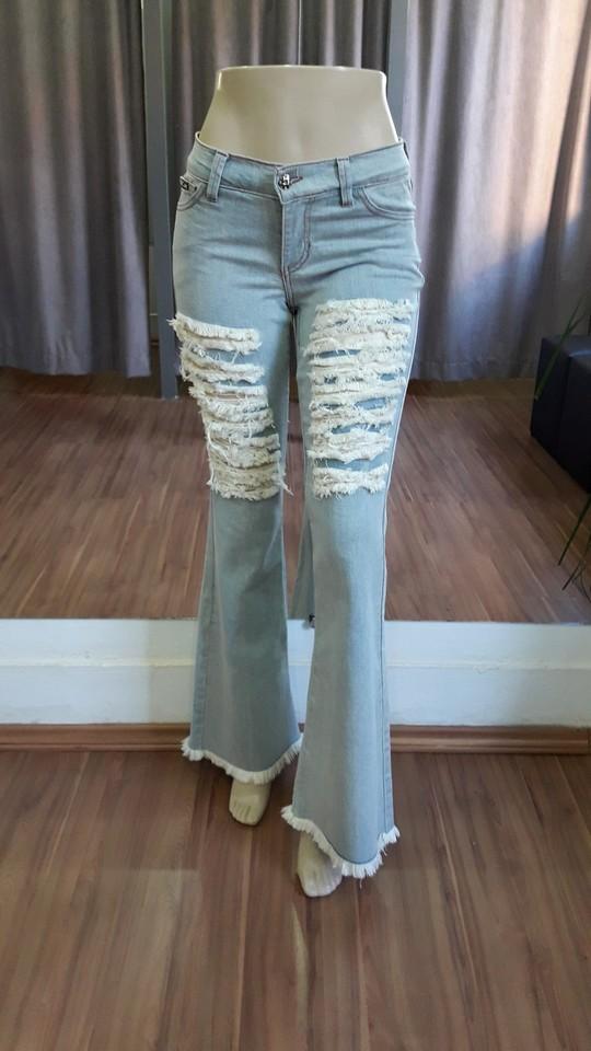 0a8d1700a Calça Flare Destroyed - Ref 76FF5 - Faro Jeans
