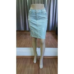 Saia Jeans Destroyed com zíperes - Ref 1577B5
