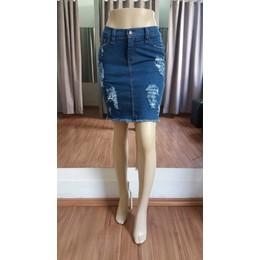 Saia jeans Destroyed - Ref 5ca8f