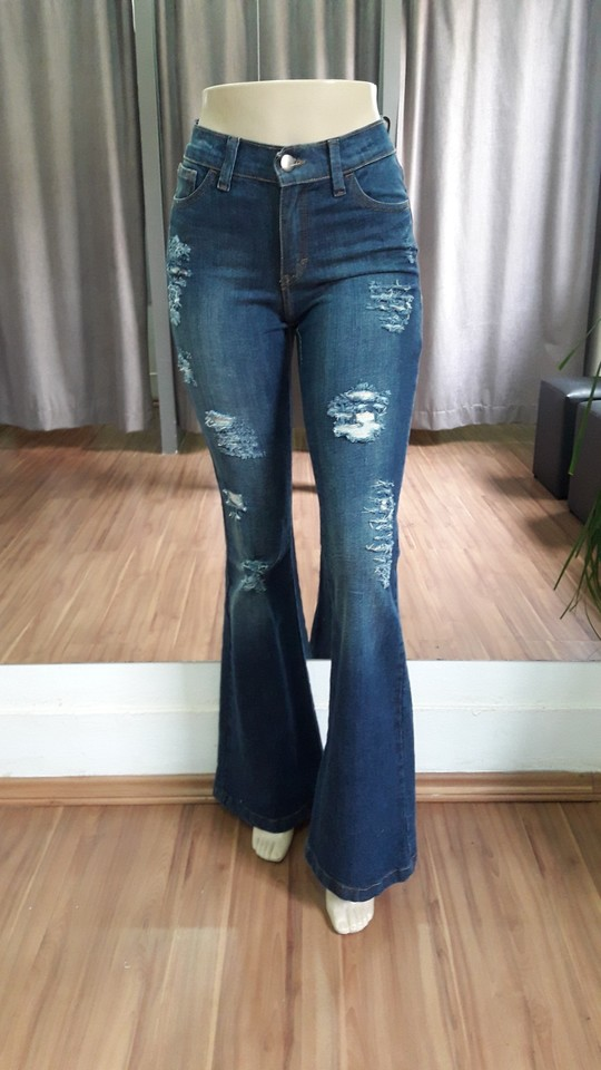 54df2a2a3 Calça Flare Destroyed - Ref 145ED9 - Faro Jeans