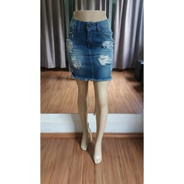 Saia Jeans Destroyed - Ref 4CA8F