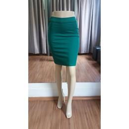 Saia colorida sem bolso - Verde - Ref 176153