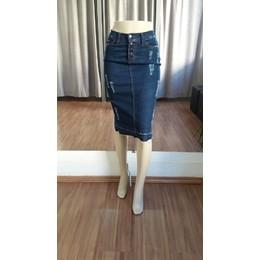 Saia Jeans Midi - Ref A9D1B