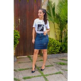 Saia Jeans com pigmento - Ref FJ 1244