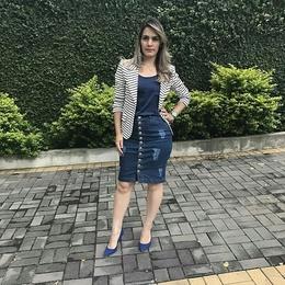 Saia Jeans de botões - Ref FJ1126
