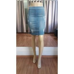 Saia Jeans sem bolsos - Ref 29F1