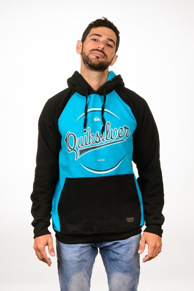 Blusa Moletom Fechado Quiksilver Classic Azul Preto Blusa Moletom Fechado  Quiksilver Classic Azul Preto c68a6f3955