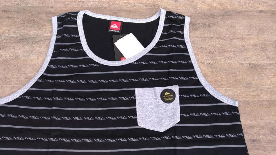 Camiseta Regata Quiksilver Board Lines - Com Bolso - SurfStation 4396fb52e7