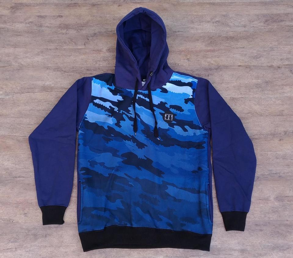 Blusa Moletom Oakley Califórnia Camuflado Azul Blusa Moletom Oakley  Califórnia Camuflado Azul ec192b132138d