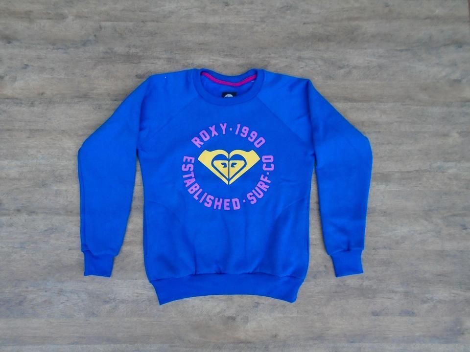 213edd9625876 Moletom Feminino Roxy Quiksilver 1990 Com Bolso Azul Moletom Feminino Roxy  Quiksilver 1990 Com Bolso Azul