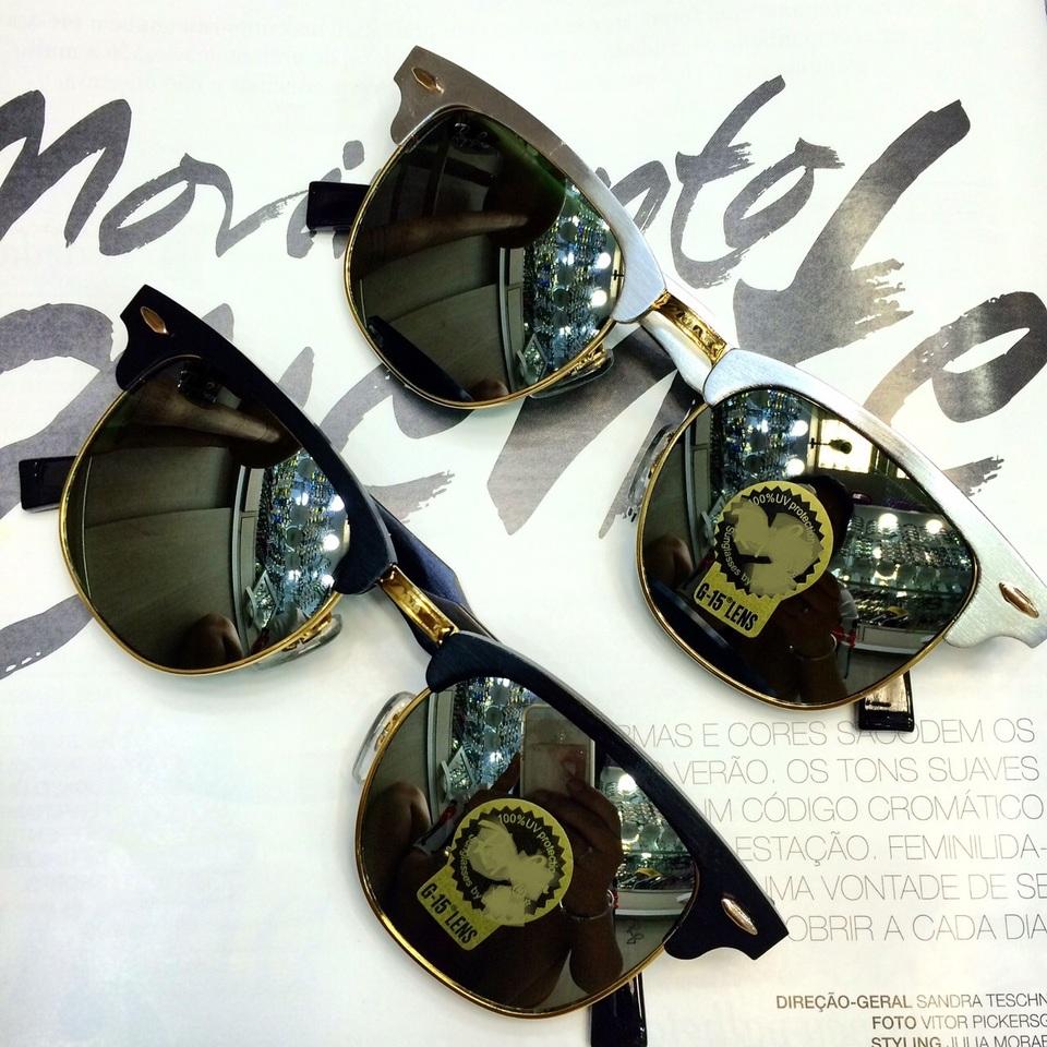 df7f0bcd3 Óculos Clubmaster Aluminium Espelhado Óculos Clubmaster Aluminium Espelhado