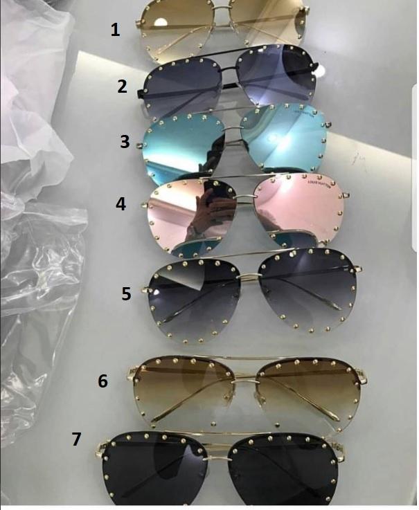 27a680c59 Óculos LV Aviador Rebites Óculos LV Aviador Rebites