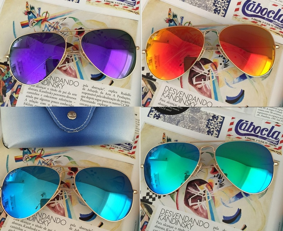 3a585e1e0 Óculos Aviador Espelhado - Réplica Premium Óculos Aviador Espelhado -  Réplica Premium