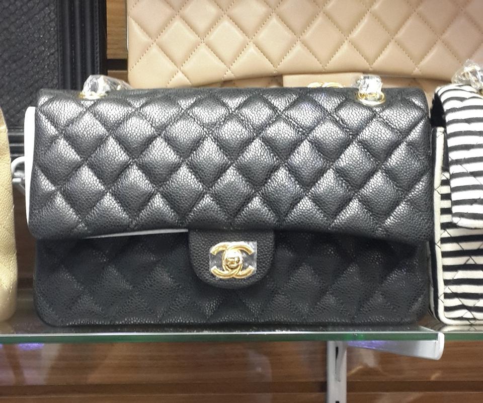 0d490eb7e Bolsa Chanel Classic Flap 2.55 Preto (Lambskin ou Caviar) - Linha 7A  Premium Bolsa Chanel Classic Flap 2.55 Preto (Lambskin ou Caviar) - Linha  7A Premium