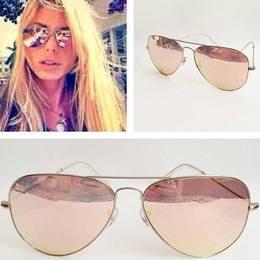 f600e57ed Óculos Aviador Rosê Espelhado
