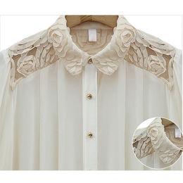Camisa de chiffon Rose