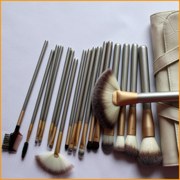 Kit com 18 pincéis de maquiagem