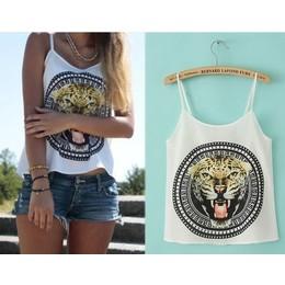 Blusa Cropped Tiger Print