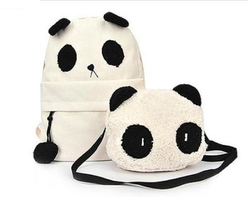 Bolsa + Mochila Panda (2 itens)