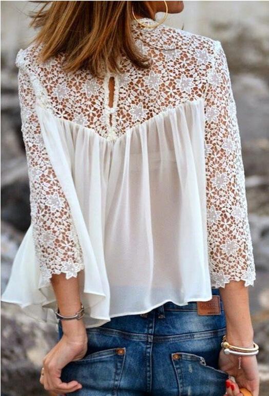 Blusa Flower rendada