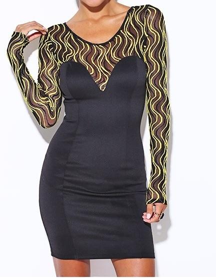 Pronta Entrega - Vestido Golden Glamour
