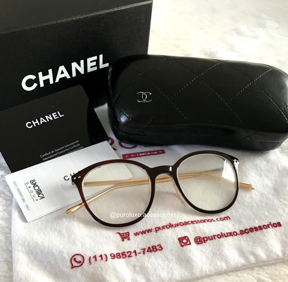 bd14f869369d7 Armação de Grau + Case Chanel Original - Puro Luxo Acessórios