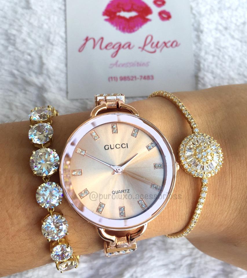 d3ca9cb4db209 Relógio Gucci Rose - Puro Luxo Acessórios