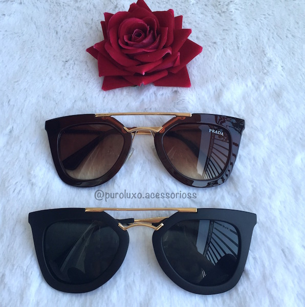 8ca39336d18d0 Óculos Prada Retrô - Puro Luxo Acessórios