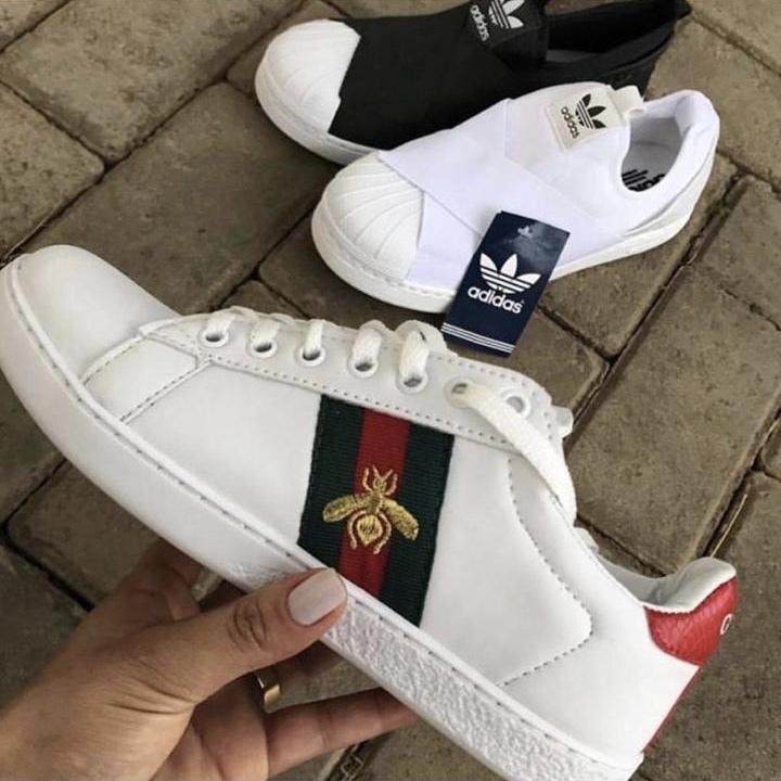 4187016ea8b51 Tenis Gucci Branco - Puro Luxo Acessórios