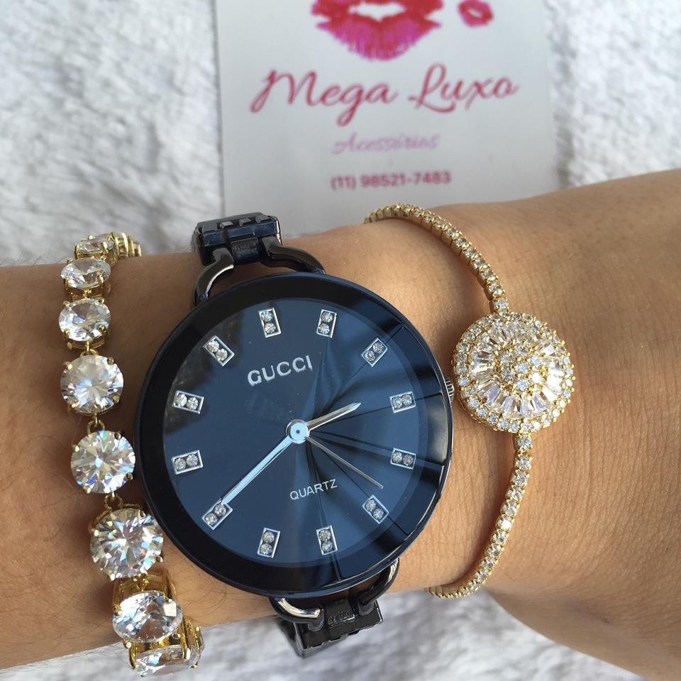 e0396bc32865b Relógio Gucci Preto - Puro Luxo Acessórios