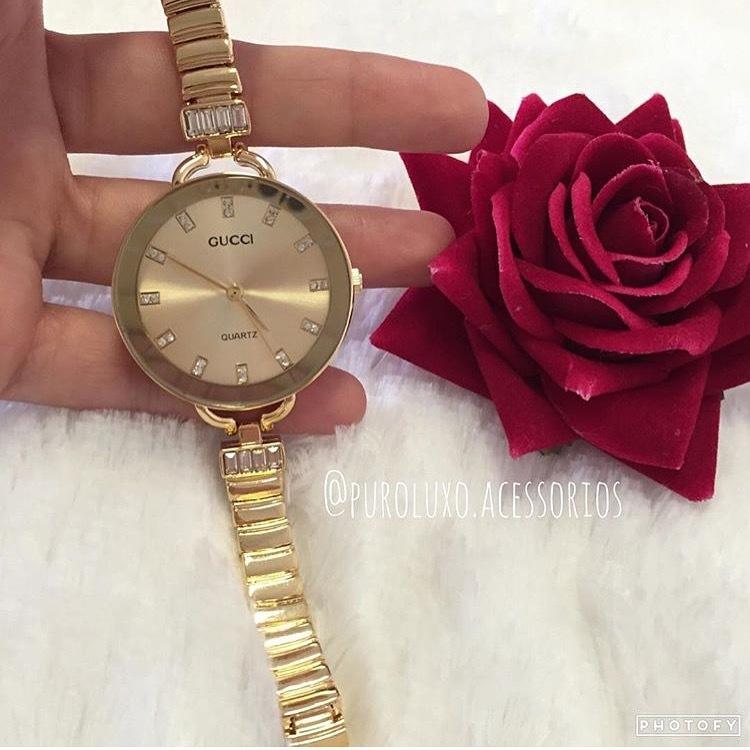 f392b4b5a72ec Relógio Gucci Dourado - Puro Luxo Acessórios