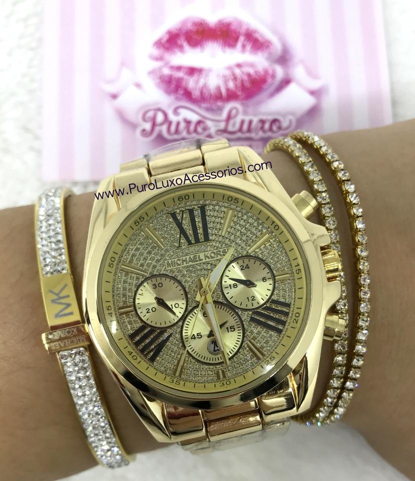 9077864de8391 Relógio Michael Kors Bradshaw - Dourado LANÇAMENTO - Puro Luxo ...