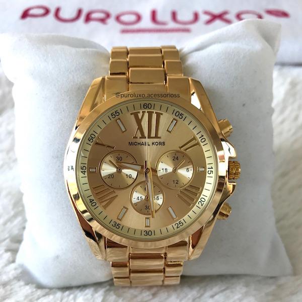 Relógio Michael Kors Romanos Dourado - Puro Luxo Acessórios 8754f93147