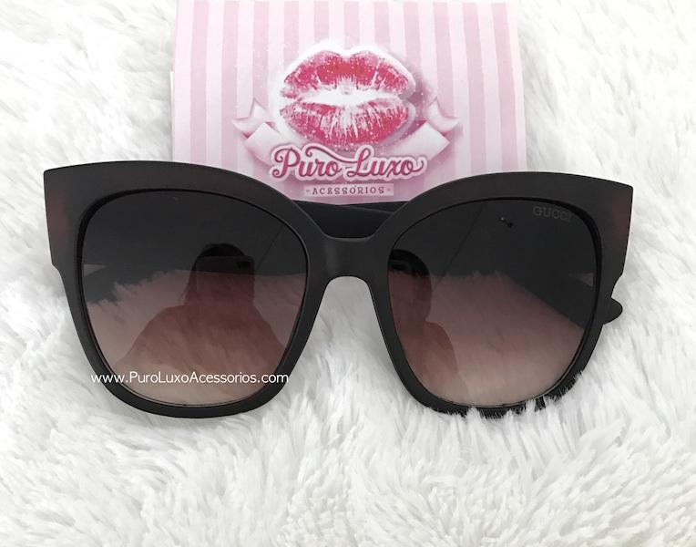 7ed29350edf5b Óculos Gucci Square-frame Marrom - Puro Luxo Acessórios
