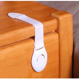Trava de segurança para gavetas e portas tecido - branco