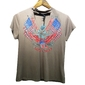 Camiseta Feminina Com Decote Discreto Gola Choker Americana