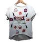 Camiseta Longa Feminina Estampa Coca Cola Pop Moda Listrada