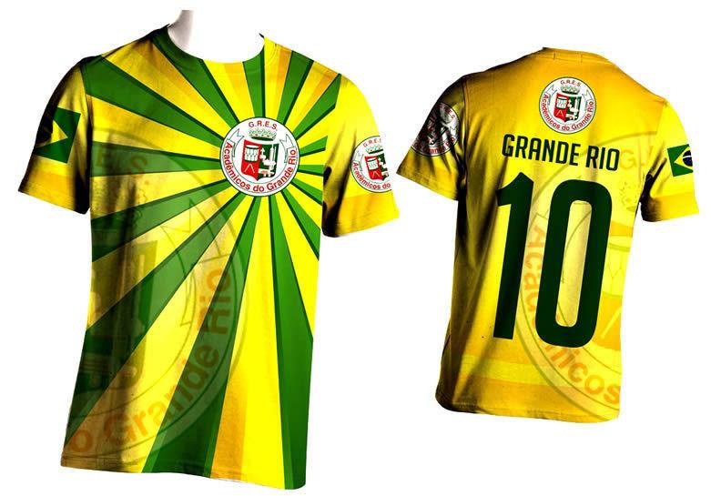 CAMISA TORCIDA BRASIL GRANDE-RIO - ShopdoCarnaval b3ec59544bb9b