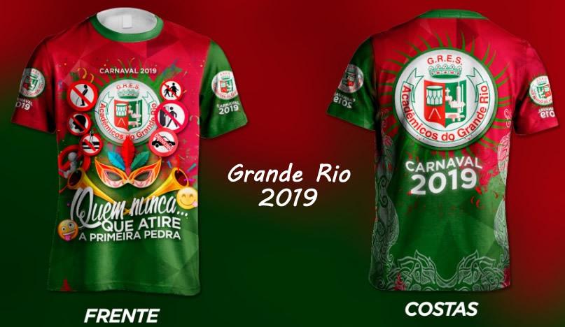 Camisa da Grande Rio 2019 - Enredo Carnaval 2019 - ShopdoCarnaval 3cd0da31073d8