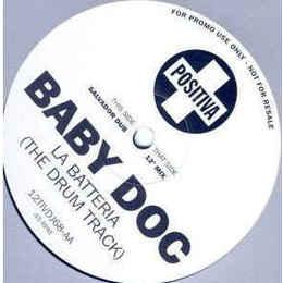 """Baby Doc – La Batteria (The Drum Track) Promo, Blue 10"""""""