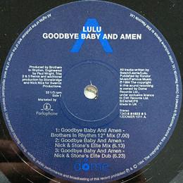 """Lulu – Goodbye Baby And Amen 12"""""""