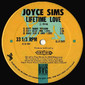 Joyce Sims - Lifetime Love 12""