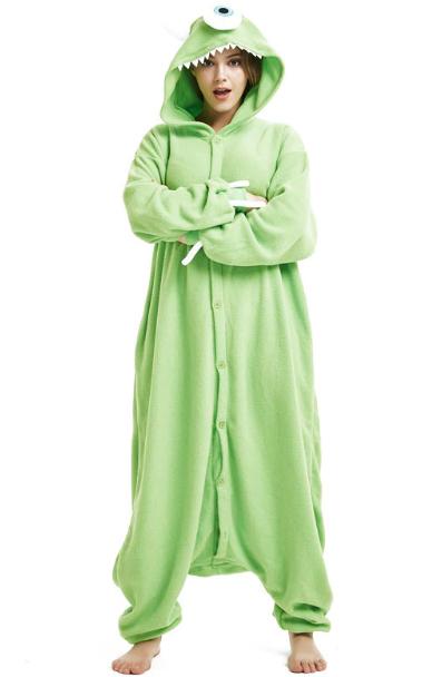 96ba1d003846 Pijama Cosplay Adulto Macacão Mike Wazowski Monstros SA SULIVAN Kumamon  Kigurumi