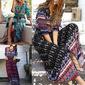 Vestido feminino floral longo - Estilo Hippie
